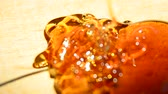 pegajoso : Honey pour closeup, Closeup of honey pouring