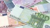 price cut : HD: Euro Money,Different Euro banknotes notes fly directly above view.