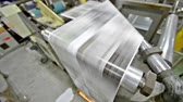 сшивание : News print factory - Stock Video. Newspapers being carried to folding and stitching Стоковые видеозаписи