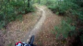 manzara : Mountain bike autumn ride HD Video - Stock Video