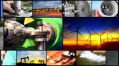 solar energy power : 4k Industrial montage video wall