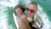 loughing : Jetski waverunner adrenaline drive, father and daughter