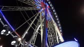 Wonderful ferris wheel in Paris by night Wideo
