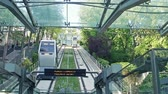 funicular : Montmartre Cable car in Paris, Slow motion