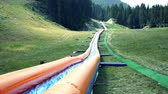 pés : Summer adrenaline park, inflatable water tobooggan slide in Bansko Bulgaria Vídeos