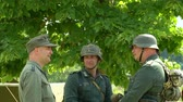 csatatér : German soldiers during a WWII reenactment on 18 may 2014 in Signa, Italy