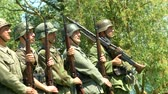 csatatér : German soldiers marching during a WWII reenactment on 18 may 2014 in Signa, Italy