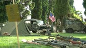 csatatér : US soldiers at command post during a WWII reenactment on 23 june 2013 in Aquileia, Italy