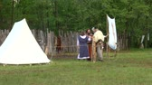 celta : Historical reconstruction of a celtic village during a reenactment on May 3, 2014 in Masserano, Italy