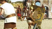 game : Roman gladiators fighting during Birth of Rome celebration on 21 April 2014, Rome (Italy)