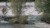 fast river : A whitewater river in the Italian Alps, 6K resolution video background seamless loop Stock Footage