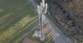 주파수 : Aerial view of Base Transceiver Station tower 무비클립