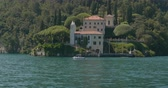 Villa del Balbianello and its garden on a small wooded peninsula overlooking Lake Como, Italy Wideo