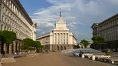 governmental : SOFIA, BULGARIA - APRIL 24, 2018: The City centre of Sofia, the capital of Bulgaria. Buildings of Presidency, Council of Ministers and Former Communist Party House.