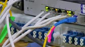 connector : Telecommunication equipment of network cables in a datacenter of mobile operator