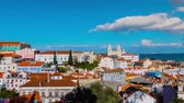 Timelapse: Church or Monastery of Sao Vicente de Fora (Monastery of St. Vincent Outside Walls) is a 17th-century church and monastery in city of Lisbon, Portugal. Royal pantheon of Braganza monarchs.