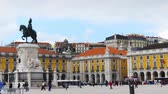 4k Praca do Comercio is located in the city of Lisbon, Portugal. Situated near the Tagus river, the square is still commonly known as Terreiro do Paco.