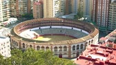 bull ring : La Malagueta, bullfighting arena in Malaga, Spain, was built in 1874. Bullring neomudejar style is to east of Malaga, near Paseo de Reding
