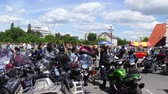 motorcyclists : BREST, BELARUS - MAY 27 2017: Brest Bike Festival International. Riding guests on motorcycles.