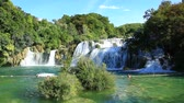 summer : Waterfall in Krka National Park is one of the Croatian nature River