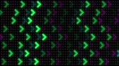 フリッカー : arrow flicker background, disco style, colorful spotlight