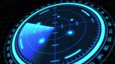 compass : Futuristic radar screen, searching target
