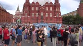 red square : Football Fans Supporting Their Team At World Cup 2018 Argentina Soccer 4K