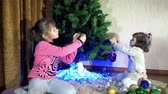 мама : New Year, Christmas children play together