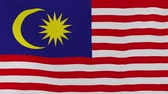 acetinado : [loopable] Flag of Malaysia.  Malaysian official flag gently waving in the wind. Highly detailed fabric texture for 4K resolution. 15 seconds loop.  Source: CGI rendering. Stock Footage