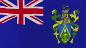acetinado : [loopable] Flag of Pitcairn Island.  Pitcairn Island official flag gently waving in the wind. Highly detailed fabric texture for 4K resolution. 15 seconds loop.  Source: CGI rendering.