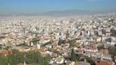 athény : Panoramic view of Athens, Greece. Zoom out Dostupné videozáznamy