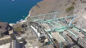 Киклады : Santorini cable car - moving up cabins