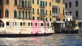 vessel traffic : Venice, Italy - June 14, 2018: Traffic on Grand Canal in Venice (Vaporetto, water taxi, gondola)