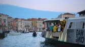 венето : Venice, Italy - June 17, 2018: View of the Grand Canal in Venice in the evening