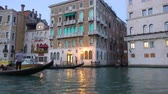 benátky : Venice, Italy - June 17, 2018: Emergency ambulance boat on the Grand Canal in Venice