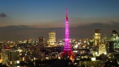 time : Tokyo Tower light up time lapse at dusk