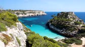 Sunny view of Caló des Moro, Mallorca, Balearic Islands, Spain Wideo