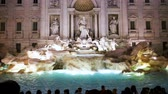 View of Trevi Fountain at sunset, Rome, Italy Стоковые видеозаписи