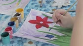 painting : Children drawing in kindergarten