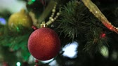 bright night lights : Christmas and New Year tree decoration, garland and toys