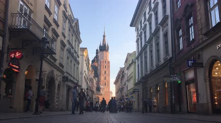 marys : KRAKOW, POLAND - MAY 2017: People walking down the street. Spring time