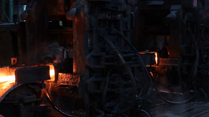 blast furnace : Impressive metal production. Huge black machines in the shop, which moves on hot steel.