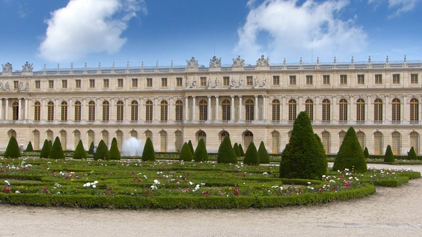 francja : The Palace of Versailles, Fountain and Garden in Paris France