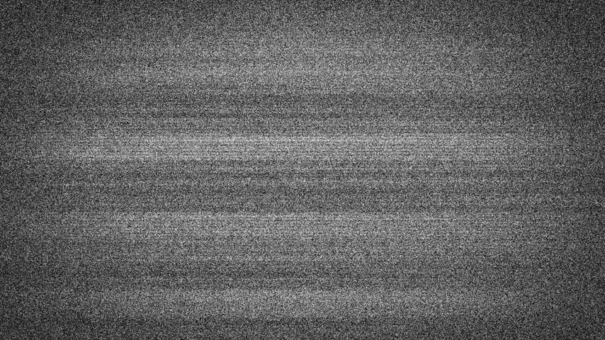 show off : Static tv noise caused by bad signal reception, black and white