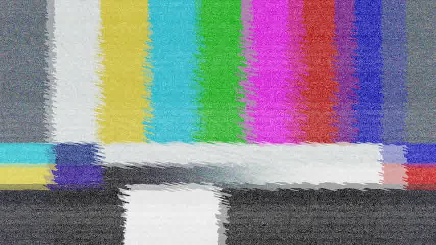 chyba : Distorted Television bars signal. Error on the test signal