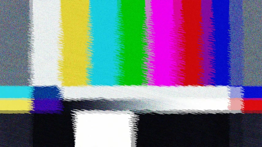 ntsc : Distorted Television bars signal. Error on the test signal