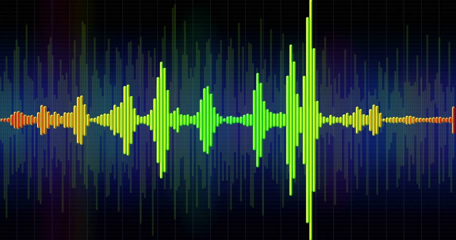 hudební : Audio spectrum simulation, high-tech waveform