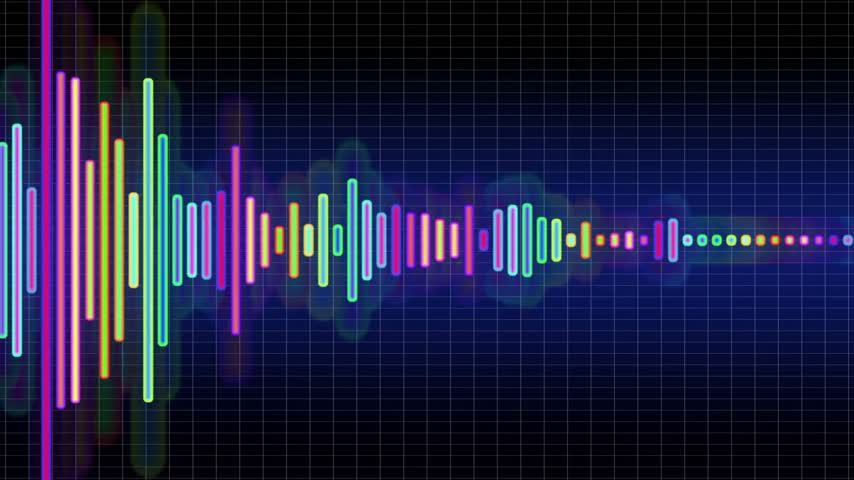 hz : Audio spectrum simulation, high-tech waveform