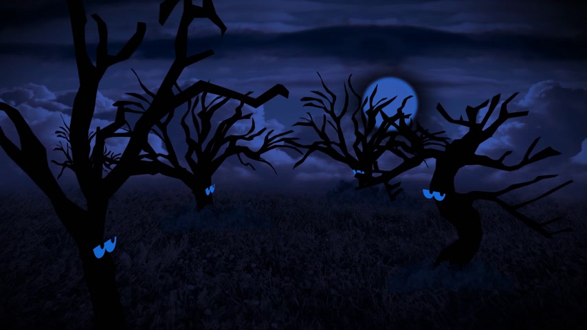 carrancudo : Dark Forest Animation Stock Footage