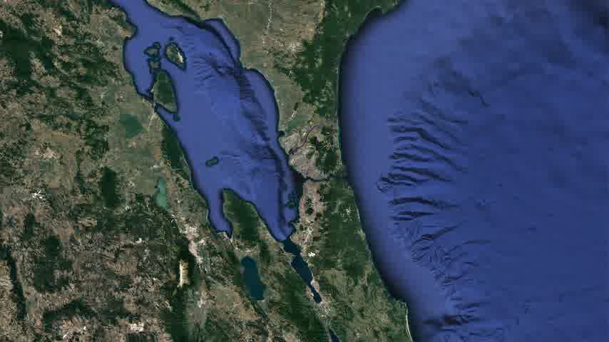 being prepared : Great project. Istanbul Canal is a Turkish projection for the artificial sea-level waterway, which is being built by the European side of Turks, connecting the Black Sea to Marmara. Channel Istanbul. Seaway map mapping 3d animation strait.